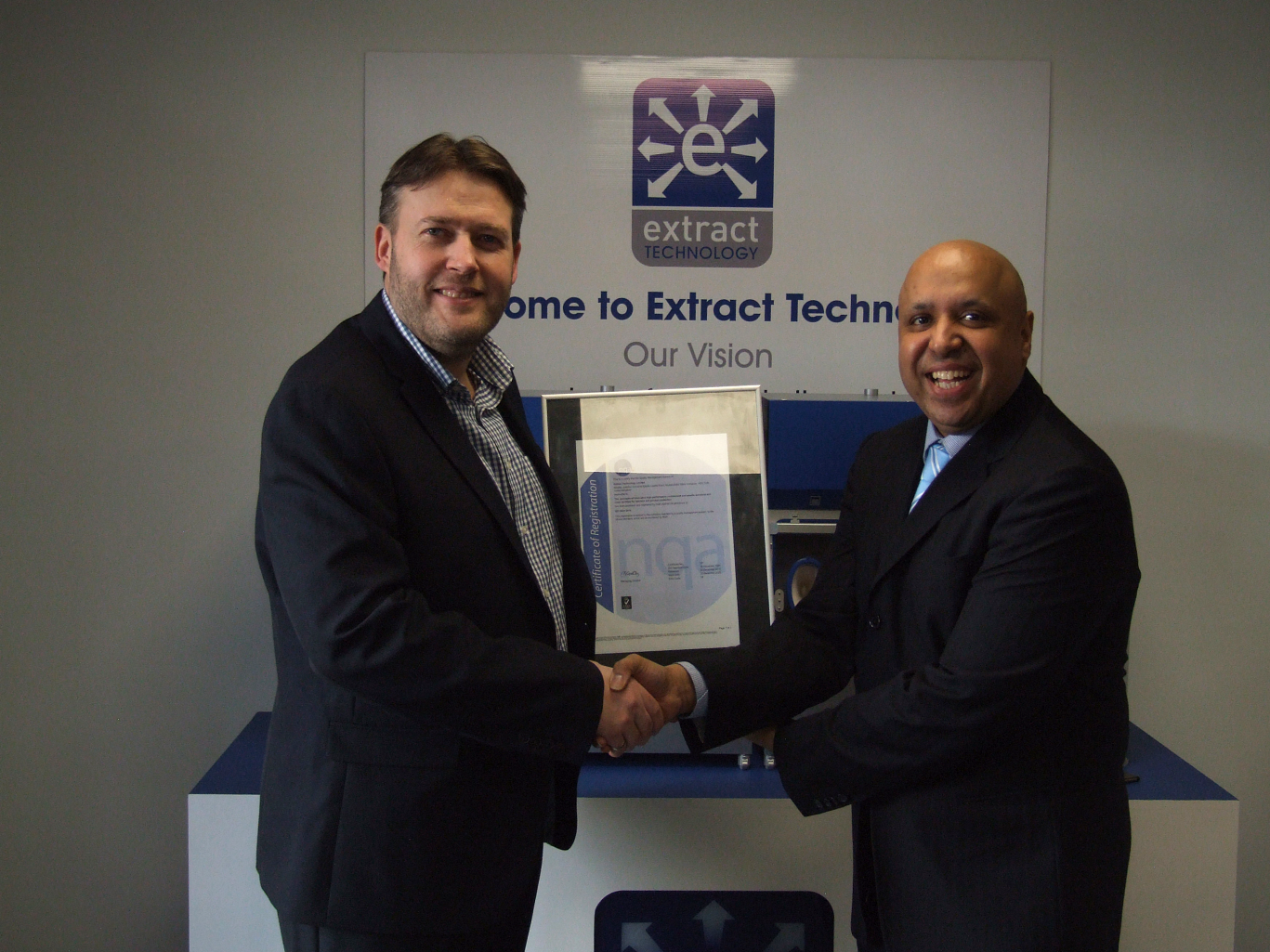 Extract Technology Ltd awarded ISO 9001:2015