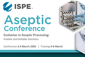 ISPE Aseptic Conference, 2nd-3rd March 2020, North Bethesda, MD, USA