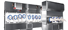 Active Restricted Access Barrier System for Autoclave Unloading + Can Filling