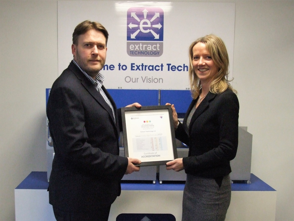 Extract Technology Re-accredited with Workplace Wellbeing Charter