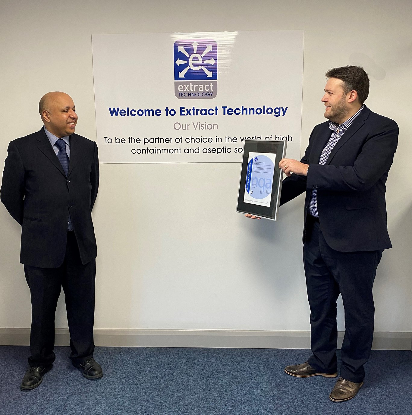 Extract Technology are pleased to announce their ISO 9001:2015 reaccreditation with the NQA (National Quality Assurance)